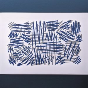 Blue/Grey Letterpress Art Print
